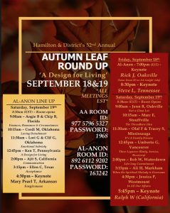 Hamilton and District's 52nd Annual Autumn Leaf Roundup @ Zoom